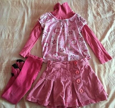 Girls Pink Outfit age 3-4 Years Including NEXT