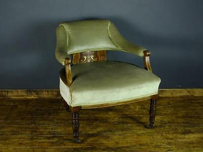 Edwardian Library Tub Chair Captains Chair