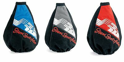 SHIFT BOOT UNIVERSAL MICROFIBER by SIMONI RACING BLUE, RED e GRAY