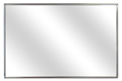 "#1 Rated 18"" x 24"" Glass Mirror/Polished Stainless Steel Frame/ Made in the USA"