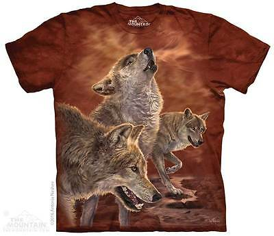 Red Wolves Wolf Wolf Pack Howling T Shirt The Mountain Animal Tee S-3XL 4XL 5XL