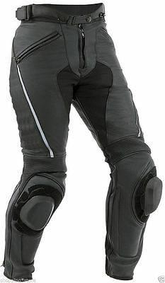 Mens Racing Motorcycle Leather Trouser Motorbike Leather Pants CE Armour XS-4XL