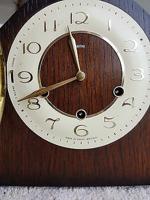 art deco mantel clock good working order