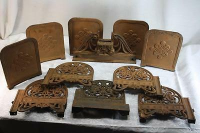 Lot Antique Cast Iron Wrought Ornate Panels Architectural Salvage Free Shipping