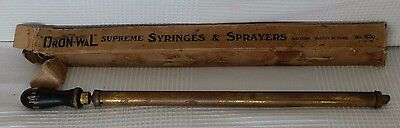 Antique Victorian Brass Garden Sprayer Dron-Wal  Supreme in Original Box