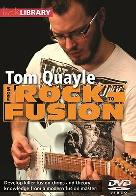 Lick Library: From Rock To Fusion By Tom Quayle. Guitar DVD (Region 0)