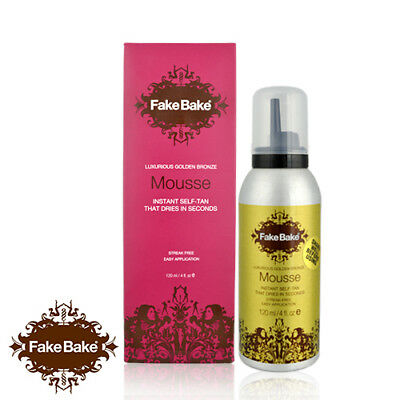 Fake Bake Golden Bronze Mousse Instant Self Tan With Application Gloves 120ml
