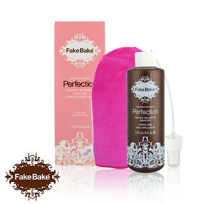 Fake Bake Perfection Instant Wash-Off Self-Tan Spritz With Professional Mitt 170