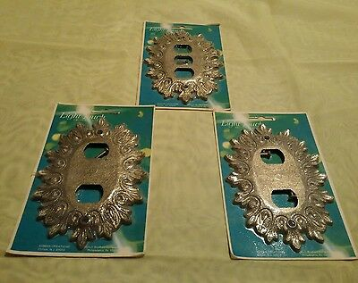 3 Vintage Ornate Edmar Light Switch Plates Cover LOT