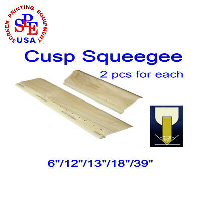 "2 Pcs For Each Cusp Squeegee 75/65 Durometer  Squeegee 6""/12""/13""/18""/39"" New"