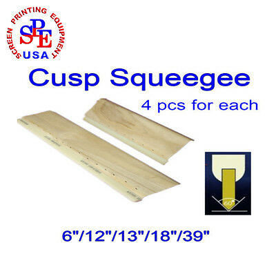 "4 Pcs For Each Cusp Squeegee 75/65 Durometer  Squeegee 6""/12""/13""/18""/39"" New"