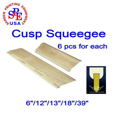 "6 Pcs For Each Cusp Squeegee 75/65 Durometer  Squeegee 6""/12""/13""/18""/39"""