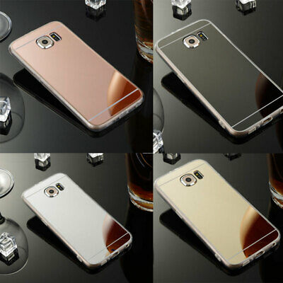 Luxury Ultra Thin Mirror Silicone TPU Case Cover For Samsung Galaxy S6 S7 S8 S8+