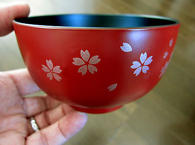 Sakura Blossom & Pedals Miso Soup Bowls / MADE IN JAPAN lacquer