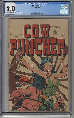 COW PUNCHER #7 CGC 2.0 Golden Age Last Issue Classic Cover
