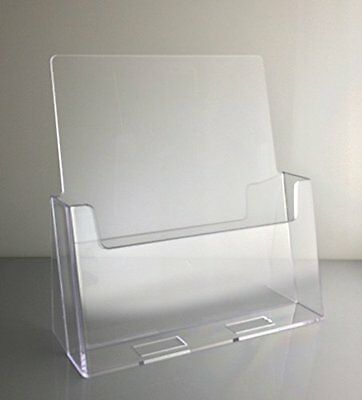 Dazzling Displays Clear Acrylic 8.5 x 11 Brochure Holder Countertop Display
