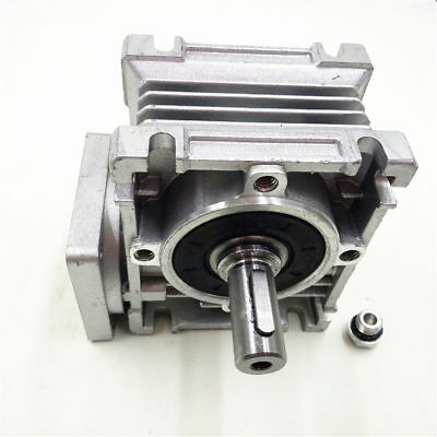 15:1 Worm Gearbox Speed Reducer NEMA23 Flange Input 11mm for Stepper Motor
