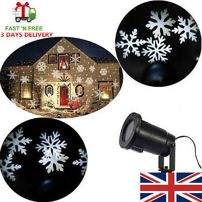 Big on SALE!LED Moving Snowflake Landscape Laser Projector Lamp Garden Light