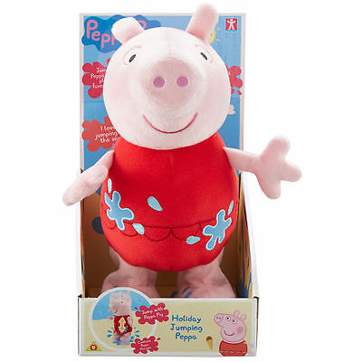 Peppa Pig Holiday Jumping Peppa Soft Toy - Brand New - Fast Post