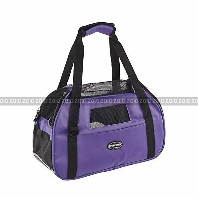 Pet Carrier Soft Sided Cat Dog Puppy Comfort Bag SlingCarrier Travel Tote Crate