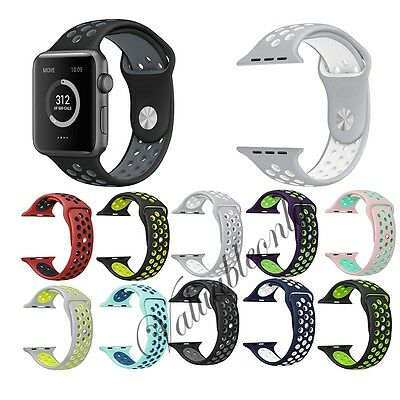New Colors Sport Band Silicone Fitness For Apple Watch iWatch Series 1/2 38/42mm