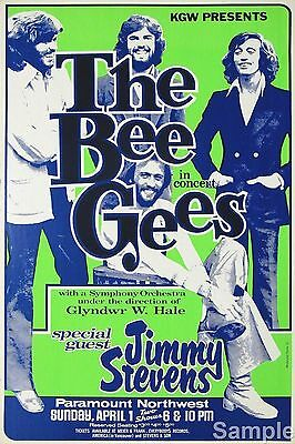The Bee Gees 1960s Vintage American Music Concert Poster A4 Repro Print