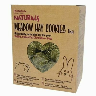 Rosewood Meadow Compressed Hay Cookies 1KG For Rabbit Guinea Pig Chinchilla etc.