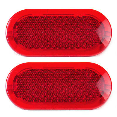 2pcs Door Red Panel Warning Light Reflector for VW Caddy Beetle Polo 6Q0947419