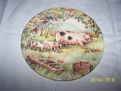 Unboxed Pigs plate by Fenton China Company Designed by Ann Blockley