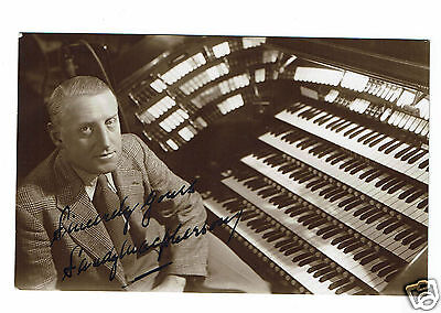 Sandy McPherson BBC Theatre Organist Hand Signed Vintage Photograph 5 X 3 #2