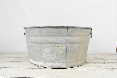 Galvanized Tub Wash Tub #2 Bucket Metal Handle Galvanized Metal Mop Bucket