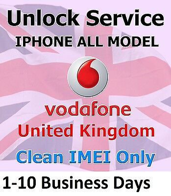 Vodafone UK Official Unlock Service IPhone 4s/5/5c/5s/6/6+ Clean Imei