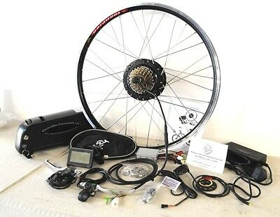 Bafang 350W Electric Bike Conversion Kit With Battery 36v Lithium Rear Wheel