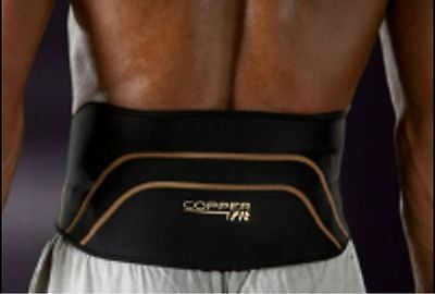 Copper Fit Pro Compression Lower Back Lumbar Support Brace S/M or L/XL
