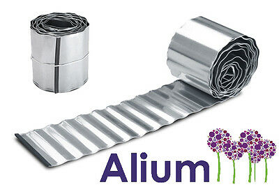 Galvanised Steel Lawn Edging Roll Garden Border Silver Patio Landscaping Outdoor