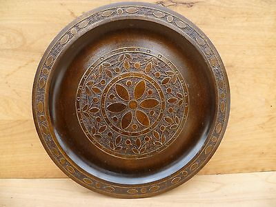 Vintage Old Timber German Decorative, Poker Work Platter, (B787)