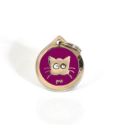 Pet Cat Identity Tag Quality PUSSY Design ID Tag FREE Delivery, Engraving Option