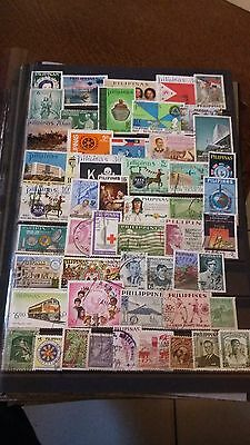 52 timbres Philippines (lot A)