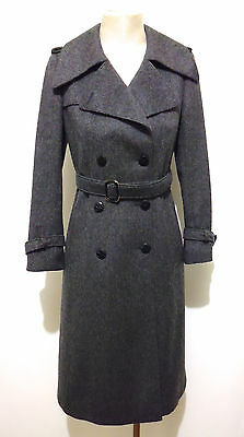 CULT VINTAGE '70 Cappotto Donna Lana Woman Wool Long Coat Sz.S - 42