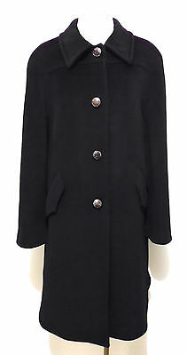 VALENTINO VINTAGE '80 Cappotto Donna Lana Cashmere Wool Woman Coat Sz.XL - 48