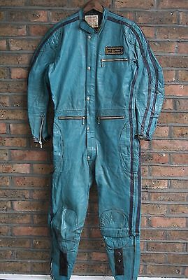 VTG 1970s LEWIS LEATHERS AVIAKIT LEATHER ONE PIECE MOTORCYCLE RACING SUIT 40/42