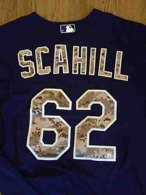 Rob Scahill Camo Colorado Rockies Issued 2014 Jersey Pittsburgh Pirates
