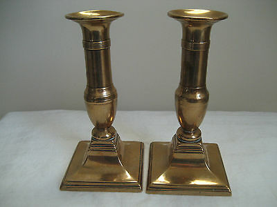 Antique Brass Push Up Gurgle Candle Stick Holders