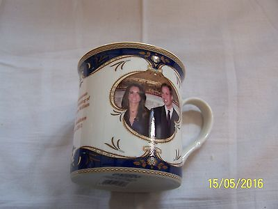Royal Crest Mug To Commemorate the Wedding of William and Catherine 29/4/2011