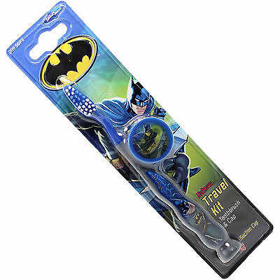 Batman children's soft toothbrush with suction bottom & cap for travel