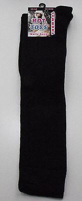 Girls/Ladies Black Thermal Knee High Welly Wellington Boot Winter Socks Size 4-6