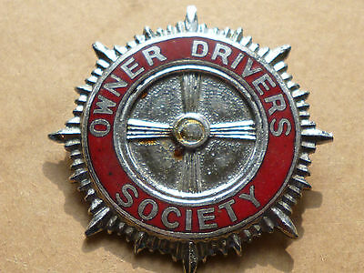 Genuine Car Automobile Owner Drivers Society Union Enamel Badge Pin c1950s