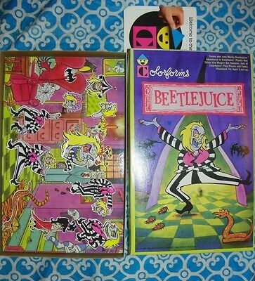 RARE 1989 COLORFORMS Set - BEETLEJUICE Cartoon Colorforms Horror - #X7