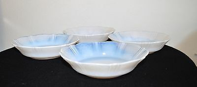 """4 Macbeth Evans """"american Sweetheart"""" Monix Opalescent Glass Bowls Soup Cereal"""