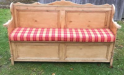 Antique Pine Bench - Hall Seat